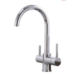 Apollo 3-Way Sink Tap type-C in chrome